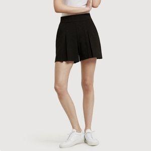 Kit & Ace   Pleated Black Shorts